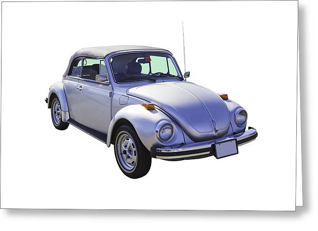 Antique Volkswagen Beetle Convertible Greeting Card by Keith Webber Jr
