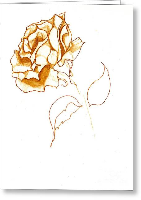Antiqued Bloom Greeting Card by Heather  Hiland