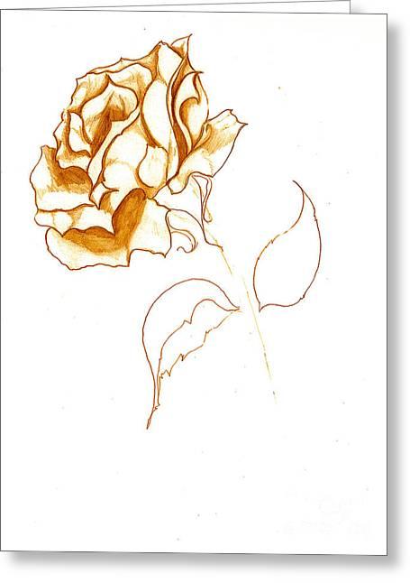 Antiqued Bloom Greeting Card