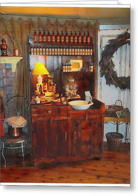 Antiques And Fragrances Greeting Card