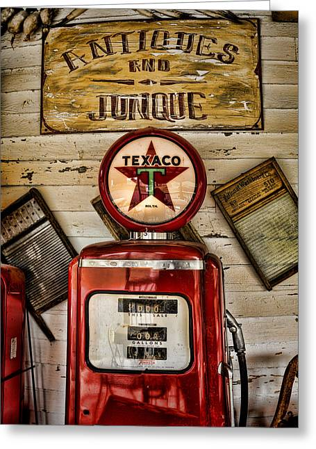 Antiques And Junque Greeting Card by Heather Applegate