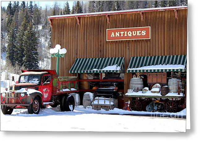Antiques In The Mountains Greeting Card by Fiona Kennard
