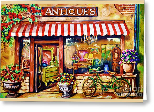 Antiques Greeting Card by Liz Aya