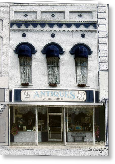 Antiques On The Square Greeting Card