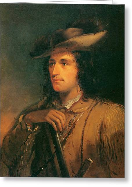 Antoine Clement The Great Hunter Greeting Card by Alfred Jacob Miller