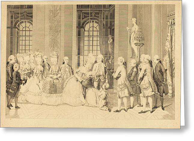 Antoine-jean Duclos After Vicomte Charles Henri Desfosses Greeting Card