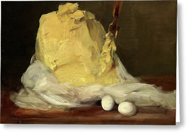 Antoine Vollon French, 1833 - 1900, Mound Of Butter Greeting Card by Quint Lox