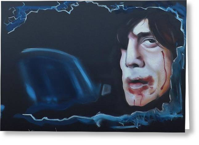 Anton Chigurh No Country For Old Men Greeting Card by Matt Burke