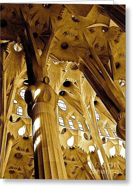 Antoni Gaudi Rythmes   Greeting Card
