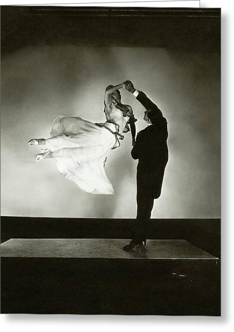 Antonio And Renee De Marco Dancing Greeting Card by Edward Steichen