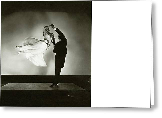 Antonio And Renee De Marco Dancing Greeting Card by Edward Steichen