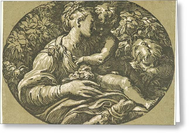 Antonio Da Trento Italian, Ca. 1510 - Ca. 1550 Greeting Card