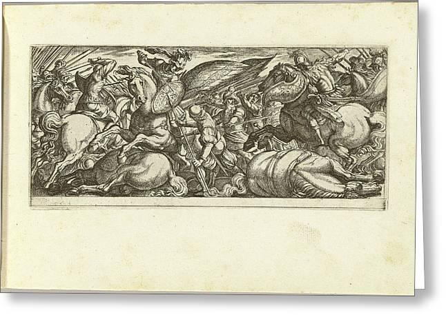 Antonio Tempesta Italian, 1555 - 1630, Battle Greeting Card by Quint Lox