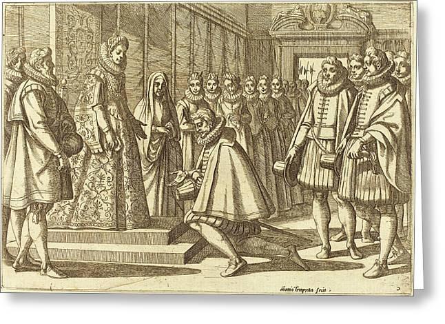 Antonio Tempesta Italian, 1555 - 1630, Philip Of Spain Greeting Card by Quint Lox