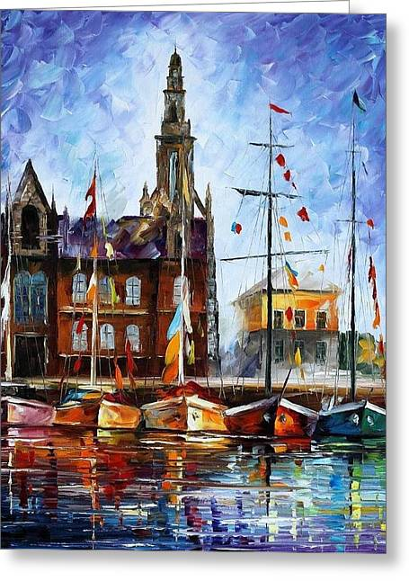 Antwerp - Belgium Greeting Card by Leonid Afremov