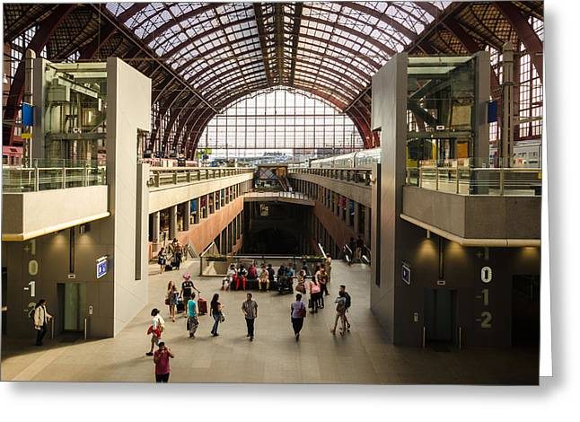 Antwerp-centraal Station Greeting Card
