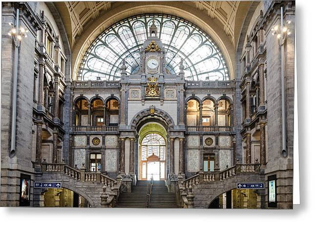 Antwerp Central Station Greeting Card