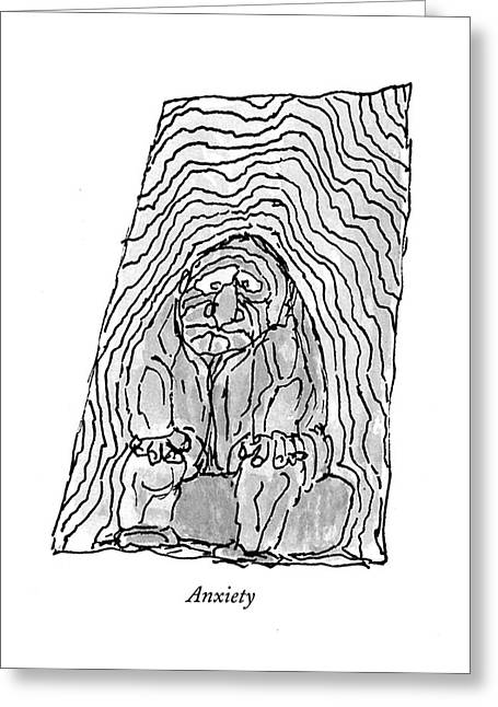Anxiety Greeting Card by William Steig