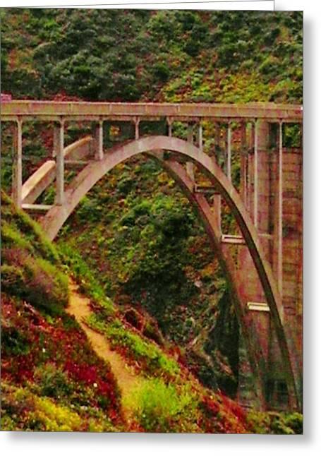 Anyone Seen The Bridge Greeting Card by Sharon Costa