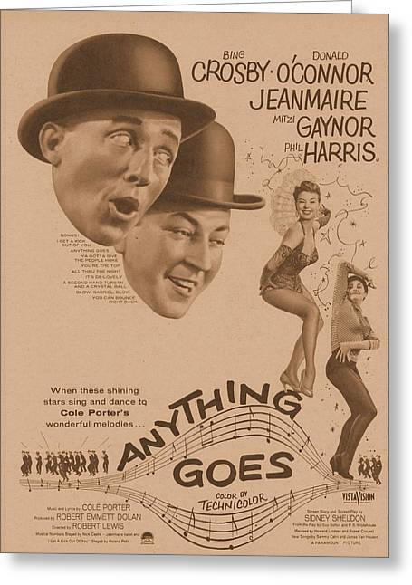 Anything Goes 1956 Greeting Card by Douglas Settle