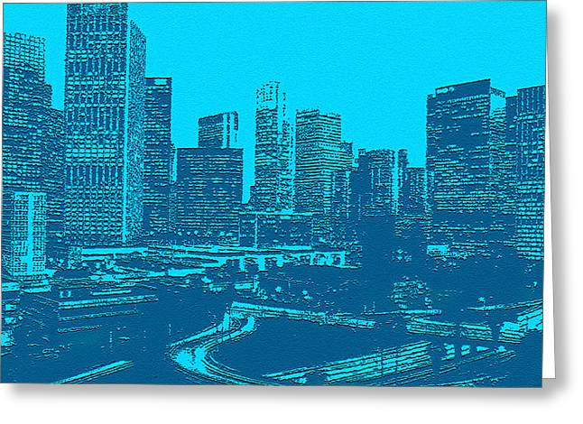 Anywhere Usa In Relief Greeting Card by Bob and Nadine Johnston