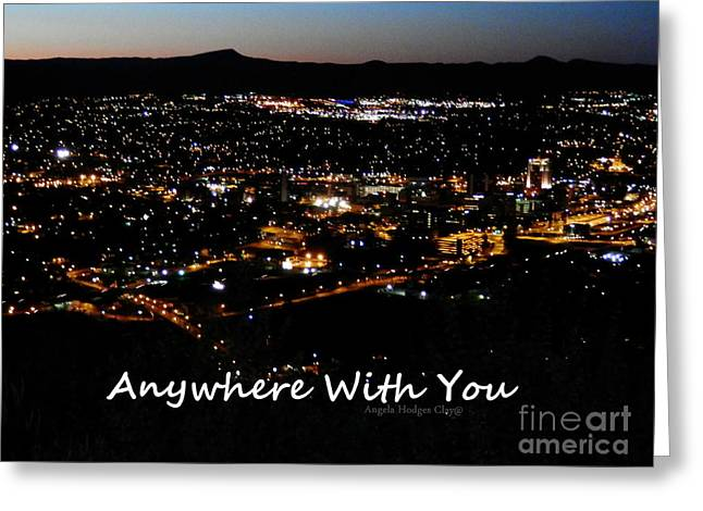 Greeting Card featuring the digital art Anywhere With You by Angelia Hodges Clay