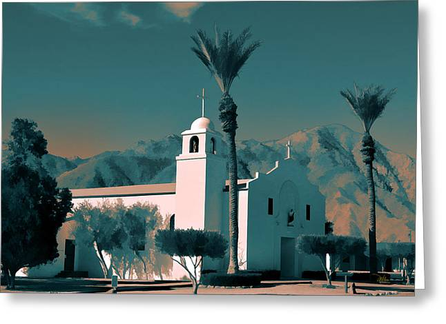 Anza Borrego Desert Church Greeting Card