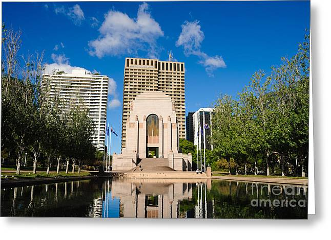 Anzac Memorial And Pool Of Reflection Greeting Card