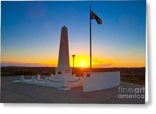 Anzac Memorial At Sunrise Greeting Card