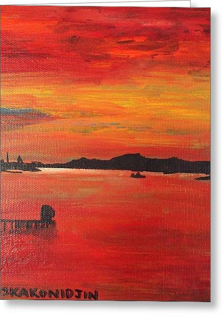 Aotearoa Sunset 1 Greeting Card by Stacey Austin