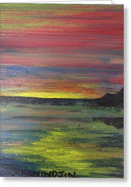 Aotearoa Sunset 2 Greeting Card by Stacey Austin