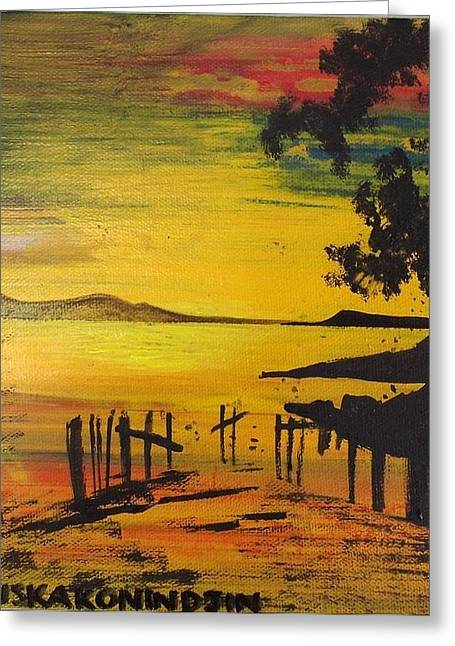 Aotearoa Sunset 3 Greeting Card by Stacey Austin