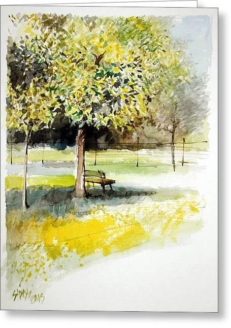 Autumn Shadows Greeting Card by Lorand Sipos
