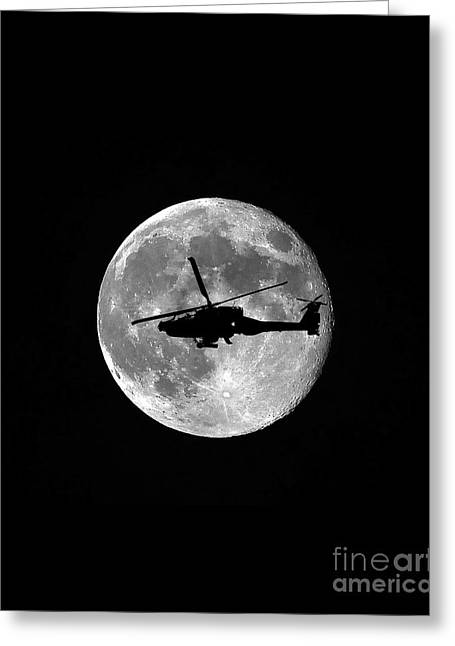 Apache Moon Vertical Greeting Card by Al Powell Photography USA