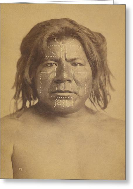 Apache Scout Greeting Card by Paul Ashby Antique Image