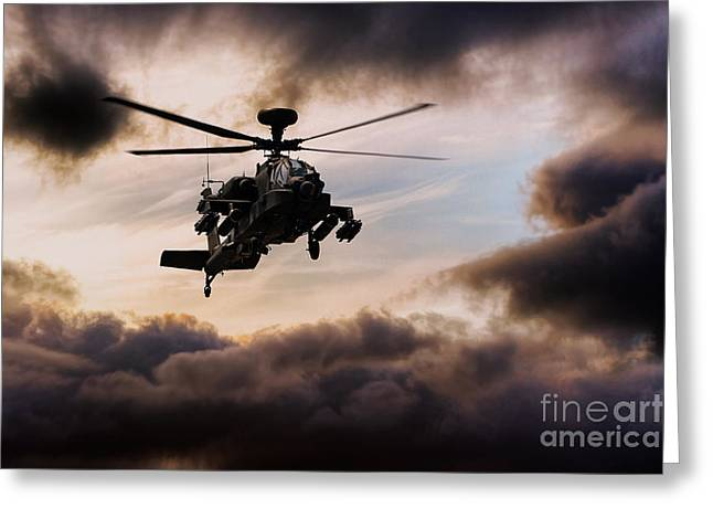 Apache Warrior  Greeting Card by J Biggadike