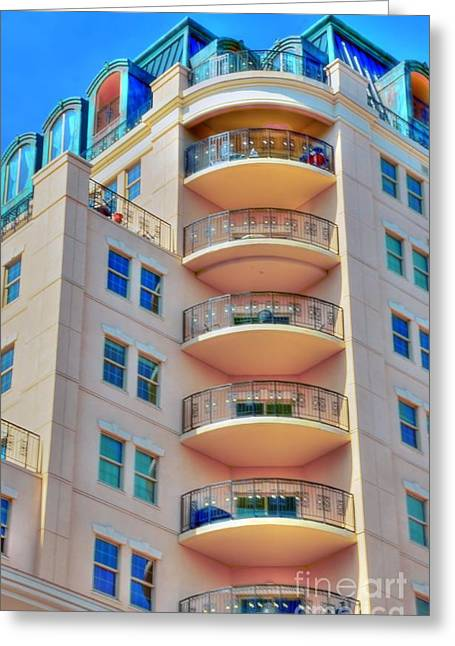 Apartment Building Greeting Card by Kathleen Struckle