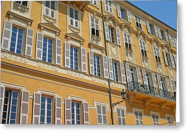 Apartments In Nice Greeting Card by Alan Kilpatrick