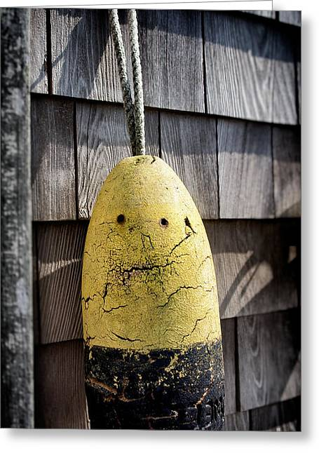 Apathetic Buoy Greeting Card by Mark Miller