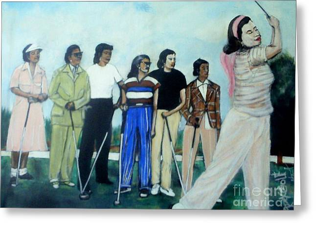 Apex Golf Greeting Card by Tyrone Hart
