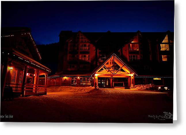 Apex Mountain Ski Village Greeting Card