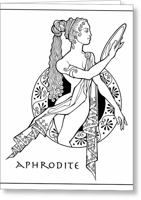 greek mythology coloring pages aphrodite granite | Aphrodite Drawing by Steven Stines