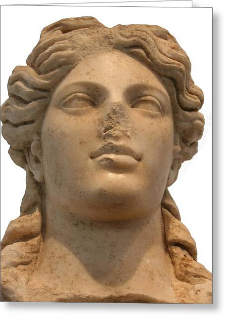 Aphrodite The Goddess Of Love And Beauty  Greeting Card by Tracey Harrington-Simpson
