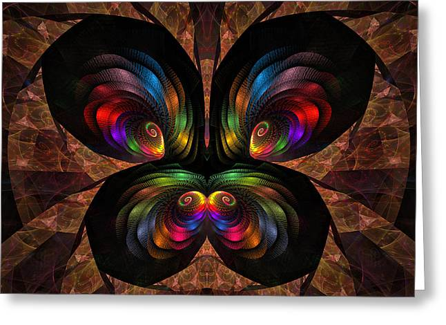 Greeting Card featuring the digital art Apo Butterfly by GJ Blackman