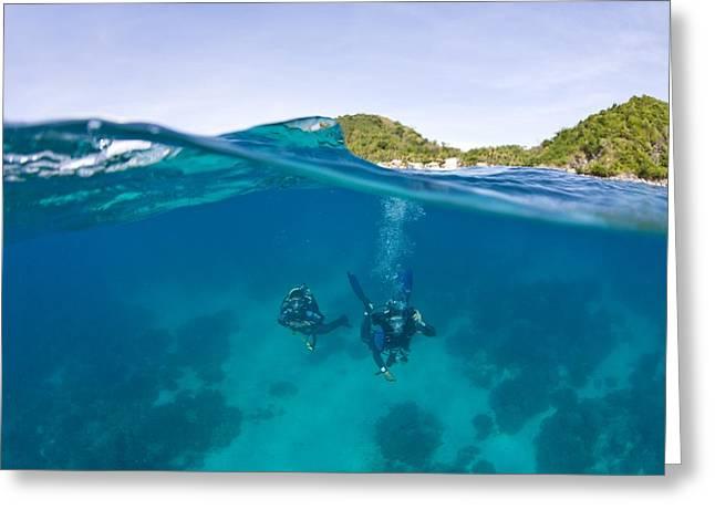 Apo Island Marine Park Negros Oriental Greeting Card by Stuart Westmorland
