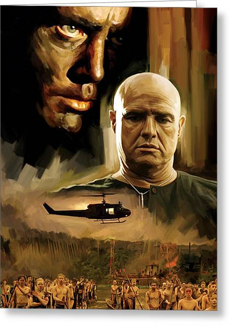 Apocalypse Now Artwork Greeting Card by Sheraz A