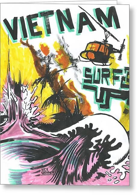 Apocalypse Then Greeting Card by Nick Smithey