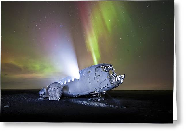 Apocalyptic Aurora Greeting Card by Timm Chapman