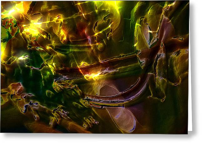 Greeting Card featuring the digital art Apocryphal - Tilting From Beastback by Richard Thomas