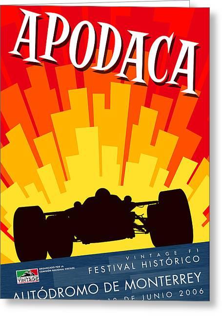 Apodaca Monterrey Historic Vintage Festival Greeting Card by Georgia Fowler
